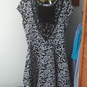 Black and white Target dress, thick material, lace